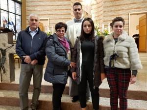 Marco con la sua famiglia